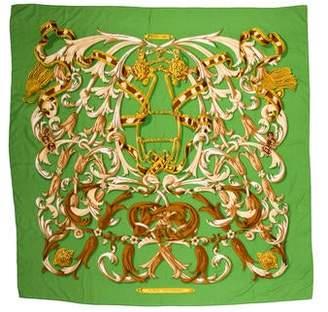 Hermes Le Mors Cashmere Silk Shawl