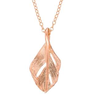 Fly London Chupi - I Can Midi Swan Feather Necklace Rose Gold