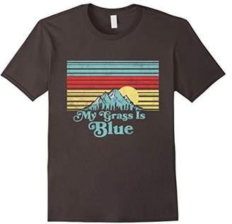 My Grass is Blue - Bluegrass Fan Retro Mountains T-Shirt