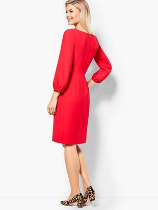 Talbots Embroidered Crepe Shift Dress