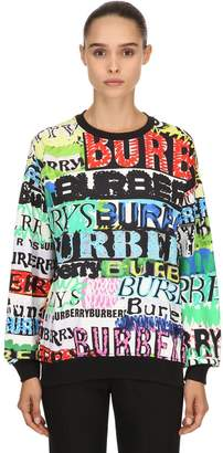 Burberry Graffiti Print Cotton Jersey Sweatshirt