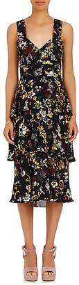 A.L.C. Women's Luna Floral Silk Sleeveless Dress Size 0