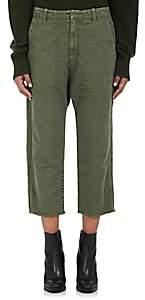 Nili Lotan Women's Luna Cotton-Linen Drop-Rise Pants - Green