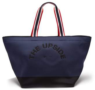 The Upside Logo Embroidered Neoprene Tote - Womens - Navy