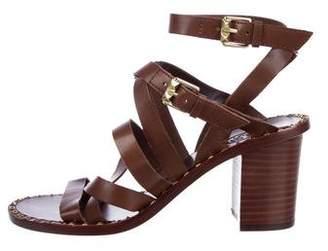 Ash Leather Mid-Heel Sandals