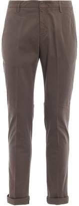 Dondup Gaubert Dark Beige Cotton Chino Trousers
