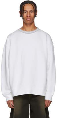 Acne Studios White Yana Crewneck Sweatshirt