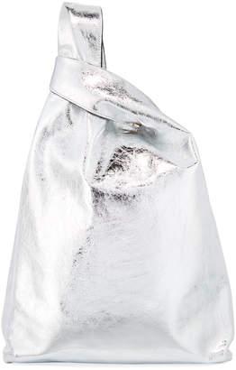 Hayward Metallic Foiled Leather Shopper Tote Bag