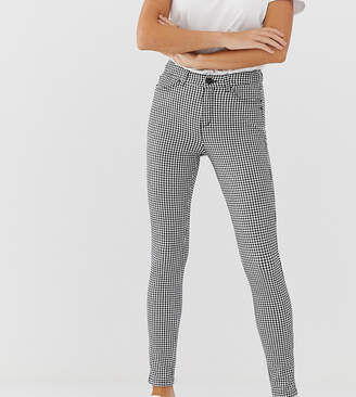 Esprit gingham pant in black and white