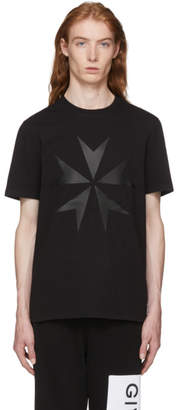 Neil Barrett Black Large Military Star 2 T-Shirt