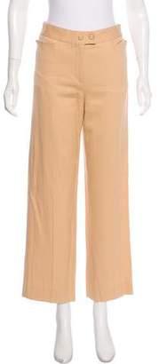 Salvatore Ferragamo Pinstripe Mid-Rise Pants