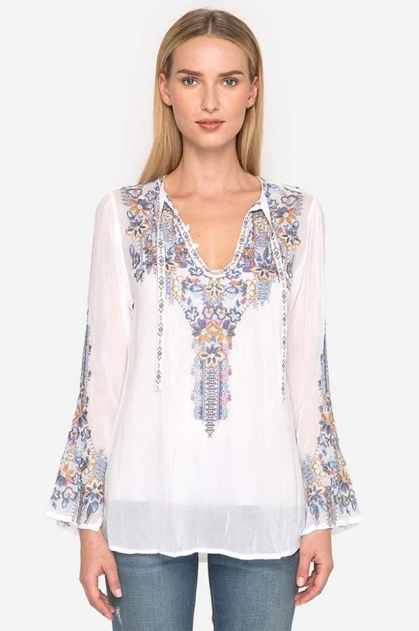 | Tanya Tonal Blouse | Size Xl | White
