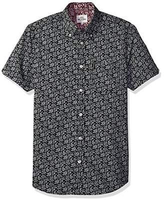 Ben Sherman Men's Short Sleeve Paisley Shirt-TBL