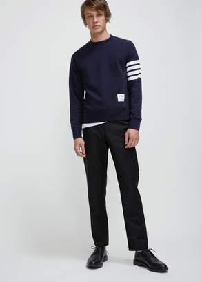 Thom Browne Sweatshirt with Engineered 4-Bar Stripe