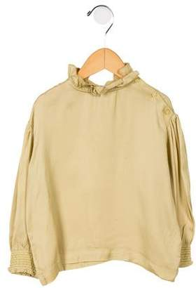 Caramel Baby & Child Girls' Ruffle-Trimmed Bramber Blouse w/ Tags