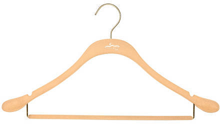 Clos-ette Too S/20 Slim Suit Hangers, Nude/Brass
