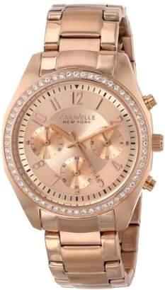 Swarovski Caravelle New York Women's 44L117 Crystal Tone Watch