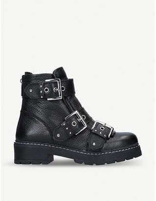 Carvela Sheen leather biker boots