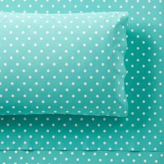 Pottery Barn Teen Dottie Sheet Set, Twin/Twin XL, Pool
