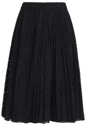 N°21 N° 21 Pleated Cotton-Blend Lace Skirt