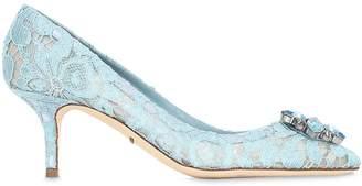 Dolce & Gabbana 60mm Lace & Swarovski Pumps