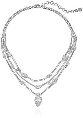 Nicole Miller Multichain Pear Collar Chain Necklace
