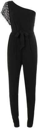 MICHAEL Michael Kors asymmetric rhinestone embellished jumpsuit