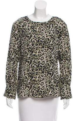 Derek Lam Leopard Print Long Sleeve Blouse w/ Tags
