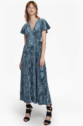 French Connenction Aurore Crushed Velvet Maxi Dress