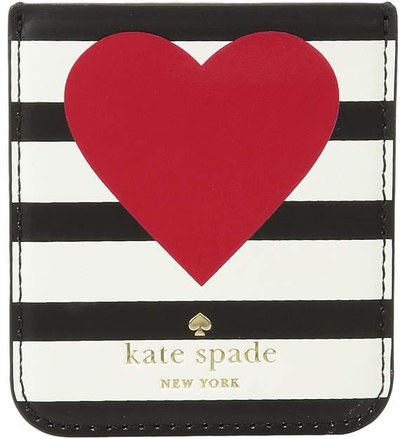 Kate Spade New York - Heart Stripe Sticker Pocket Wallet