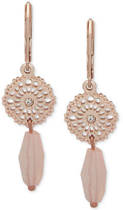 lonna & lilly Gold-Tone Pave Disc & Bead Double Drop Earrings