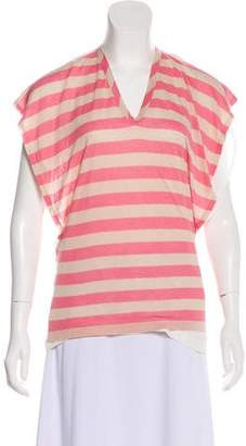 RED Valentino Striped Cap Sleeve Top