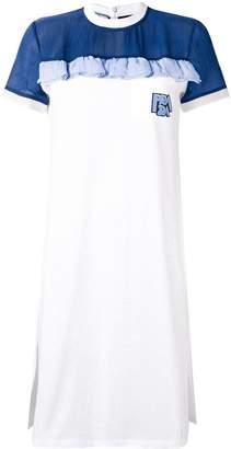 Prada ruffle detail T-shirt dress