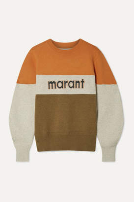 Etoile Isabel Marant Kedy Color-block Intarsia Knitted Sweater