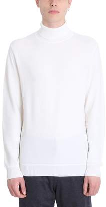 Ermenegildo Zegna White Wool Turtle Neck Sweater