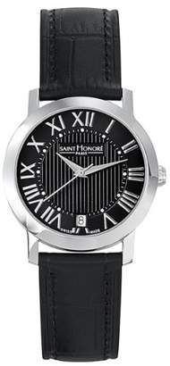 Saint Honore Women's 'Trocadero' Quartz Stainless Steel and Leather Dress Watch