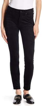 Mother The Looker High Waisted Faux Suede Skinny Ankle Jeans