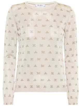 Max Mara Olona metallic sweater