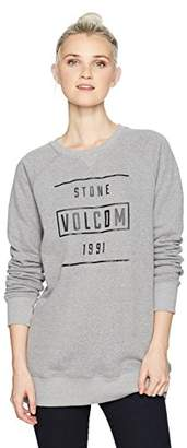 Volcom Junior's 6MILE Pullover Butter Heather Fleece Crew