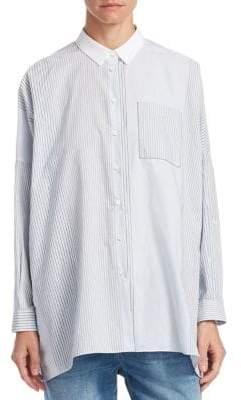 Brunello Cucinelli Striped Cotton Pocket Shirt