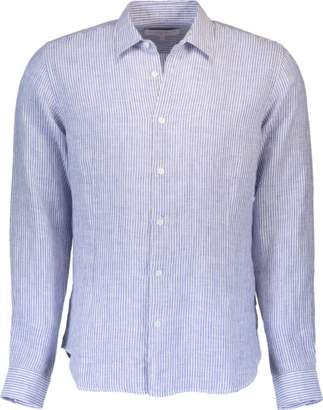 Orlebar Brown Morton Linen Navy Tailored-Fit Shirt