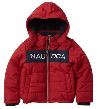 Nautica Arthur Colo Block Waterproof Bubble Jacket (Toddler Boys)
