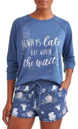 Disney Women's and Women's Plus Cinderella Pajama Set