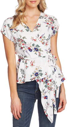 Vince Camuto Country Bouquet Asymmetrical Faux Wrap Blouse