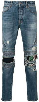 Marcelo Burlon County of Milan biker slim-fit jeans