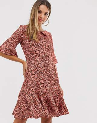 Closet London Closet frill sleeve a line dress