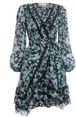 Zimmermann Moncur Wrap Short Dress