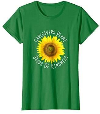 Caregiver T Shirt Sunflower Family Caregivers CNA's