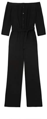 Vince Camuto Off-the-shoulder Tie-waist Jumpsuit