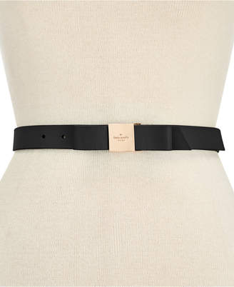 Kate Spade Smooth Leather Bow Belt